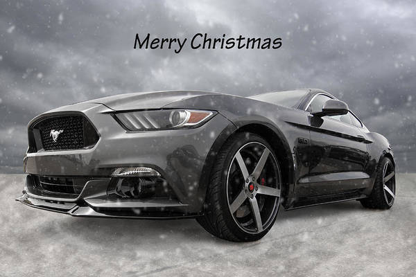 Wall Art - Photograph - Merry Christmas Mustang S550 by Gill Billington