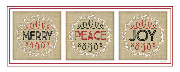 Wall Art - Digital Art - Merry Peace Joy by Jennifer Pugh