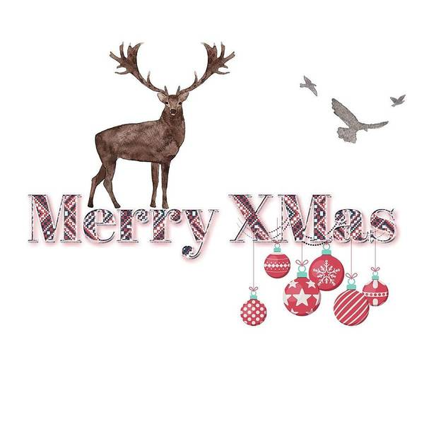Wall Art - Painting - Merry Xmas by Celestial Images