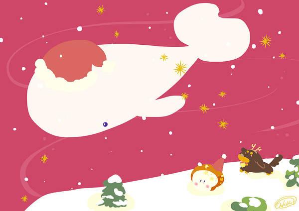 Illustration Digital Art - merry X'mas by Hiki
