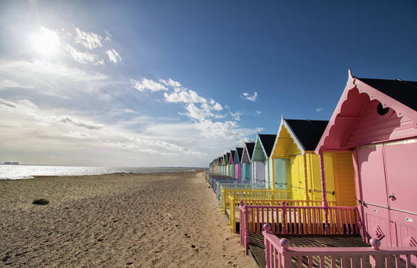 Wall Art - Photograph - Mersea Beach Huts by Martin Newman