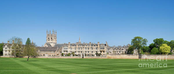 Wall Art - Photograph - Merton College Oxford Panoramic by Tim Gainey
