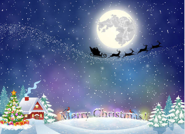 December Wall Art - Digital Art - Meryy Christmas And Happy New Year by Drogatnev