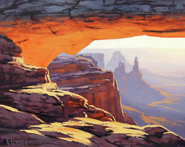 Wall Art - Painting - Mesa Arch Sunrise by Graham Gercken