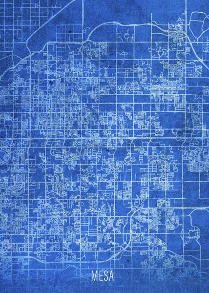 Wall Art - Mixed Media - Mesa Arizona City Street Map Blueprints by Design Turnpike