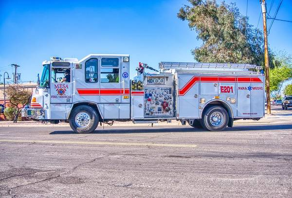 Photograph - Mesa Arizona Fire Department  by Ants Drone Photography