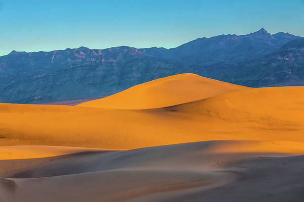 Death Valley Photograph - Mesquite Flats Sunsrise by Peter Tellone