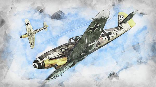Painting - Messerschmitt Bf 109k4 - 03 by Andrea Mazzocchetti