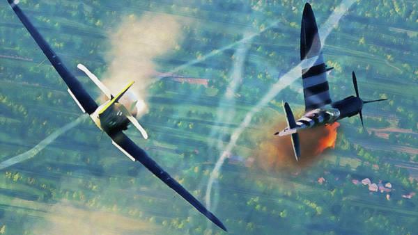 Painting - Messerschmitt Bf 109k4 - 04  by Andrea Mazzocchetti
