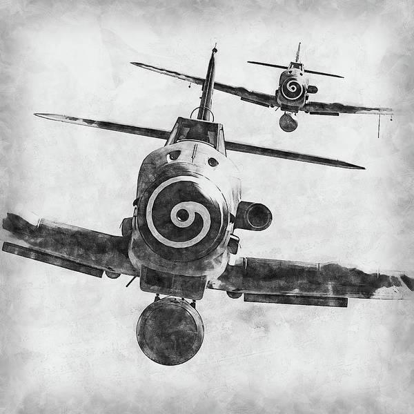 Painting - Messerschmitt Bf 109k4 - 07 by Andrea Mazzocchetti
