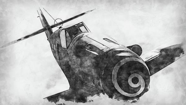 Painting - Messerschmitt Bf 109k4 - 08 by Andrea Mazzocchetti