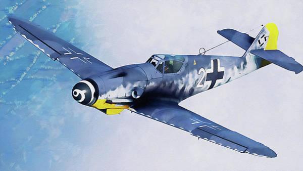 Painting - Messerschmitt Bf 109k4 - 09 by Andrea Mazzocchetti
