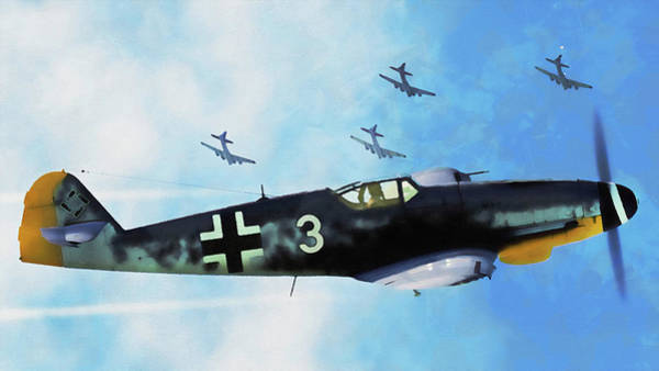 Painting - Messerschmitt Bf 109k4 - 10 by Andrea Mazzocchetti