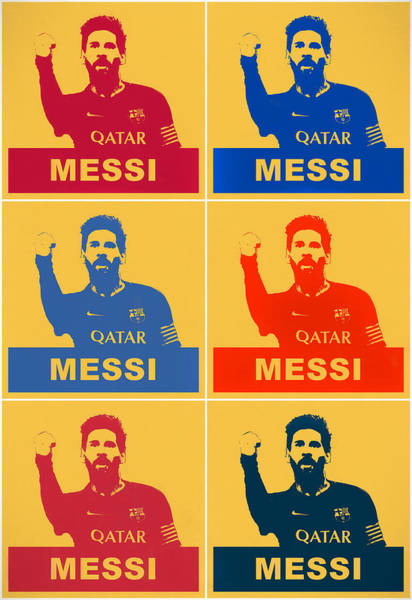 Painting - Messi Pop Art Panels by Dan Sproul