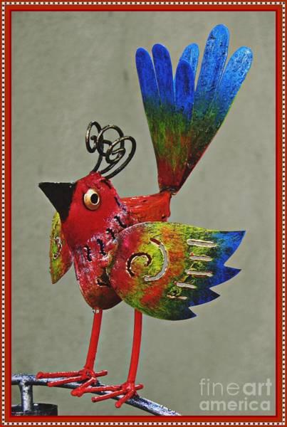Wall Art - Photograph - Metal Bird On A Pipe   by Sarah Loft