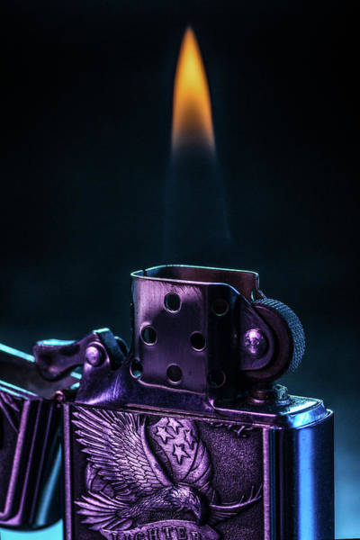 Flammable Wall Art - Photograph - Metal Lighter by ENZO Art in photography