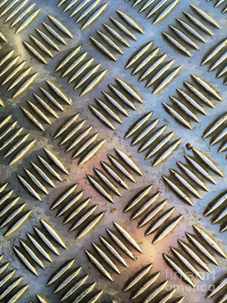 Wall Art - Photograph - Metal Pattern Background by Tom Gowanlock