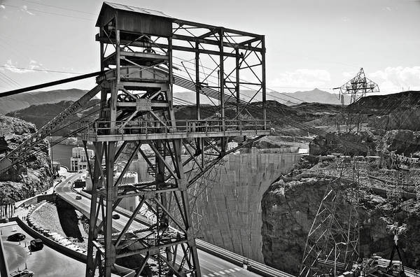 Photograph - Metal Structure At Hoover Dam Bw by RicardMN Photography