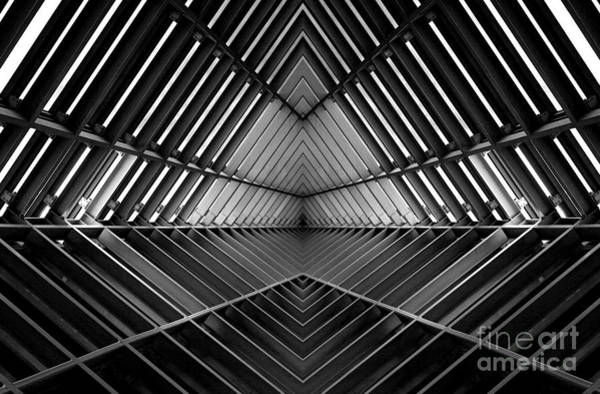 Schematic Wall Art - Photograph - Metal Structure Similar To Spaceship by Gumpanat