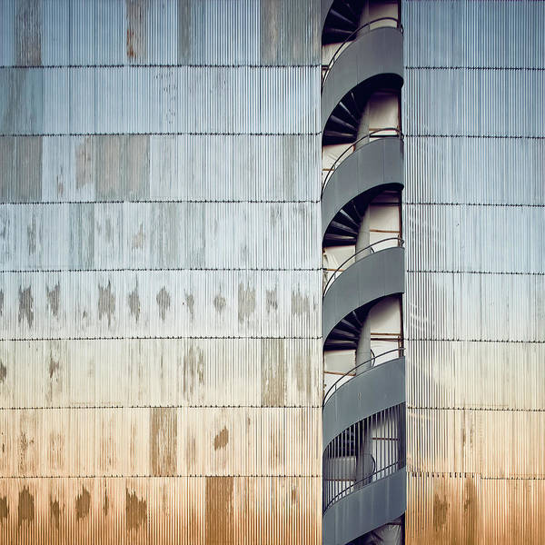 Pasquale Photograph - Metal Wall Face And Winding Stairs by Nico De Pasquale Photography