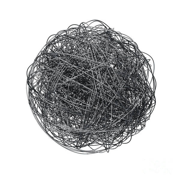 Wall Art - Photograph - Metal Wire Ball by Noctiluxx