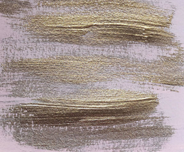Photograph - Metallic Abstract Painting 4 #texture #minimalism by Andrea Anderegg