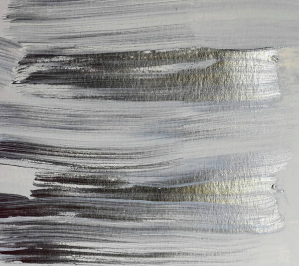 Photograph - Metallic Abstract Painting 5 #texture #minimalism by Andrea Anderegg