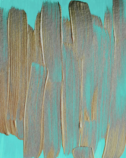 Photograph - Metallic Abstract Painting #texture #minimalism by Andrea Anderegg