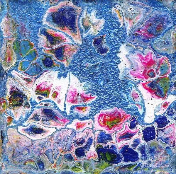 Painting - Metallic Flowers by Angelika GAIGL