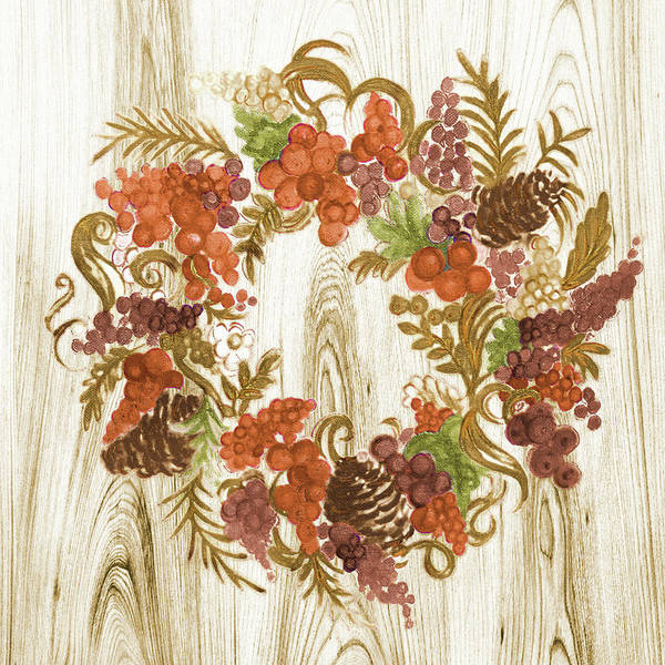 Metallic Painting - Metallic Wreath by Janice Gaynor