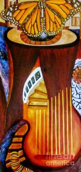 Harp Mixed Media - Metamorphoses by Ivonne Jaramillo