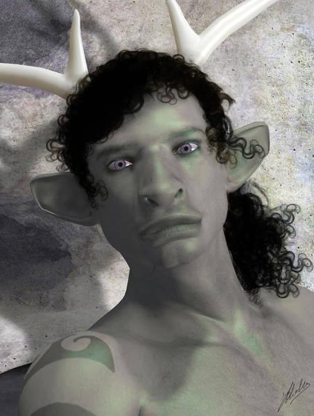 Wall Art - Digital Art - Metamorphosis Of Actaeon Portrait by Joaquin Abella