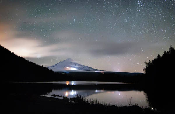Wall Art - Photograph - Meteor At Trillium Lake by Cat Connor