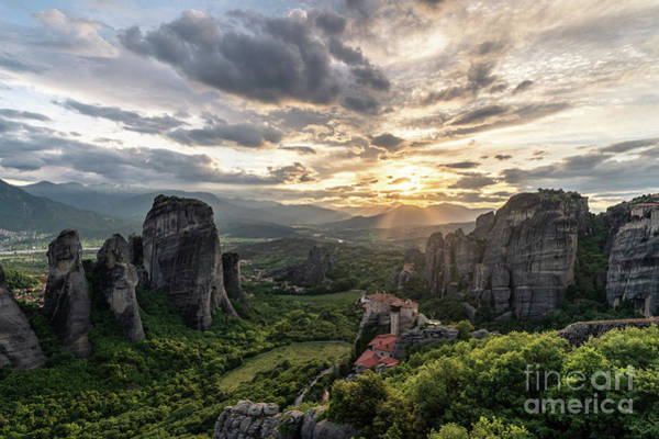 Photograph - Meteora Sunset In Greece by Didier Marti