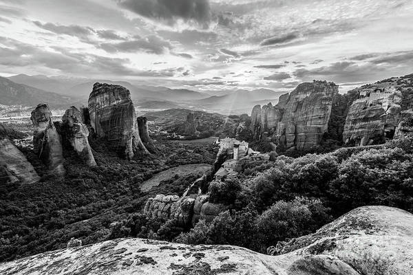 Photograph - Meteora View In Greece by Didier Marti