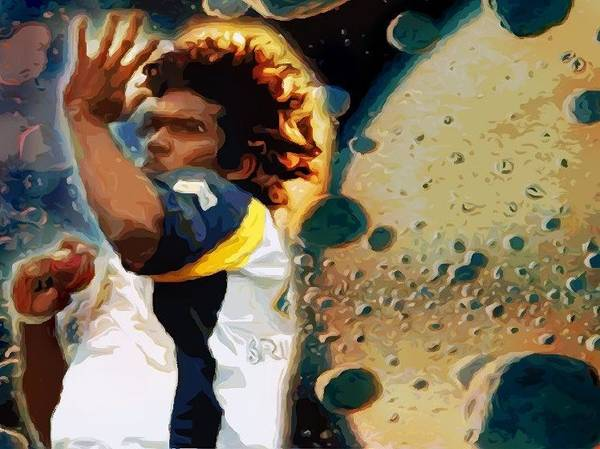 Mavericks Mixed Media - Meteorites From Malinga by Chris Dharmakirti
