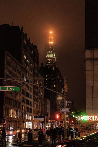 Photograph - Metlife Tower After Dark by Sharon Popek