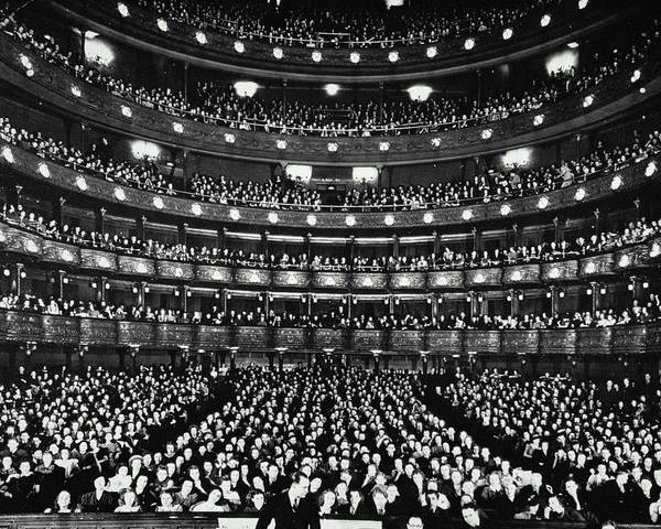 Crowd Photograph - Metropolitan Opera House by Archive Holdings Inc.