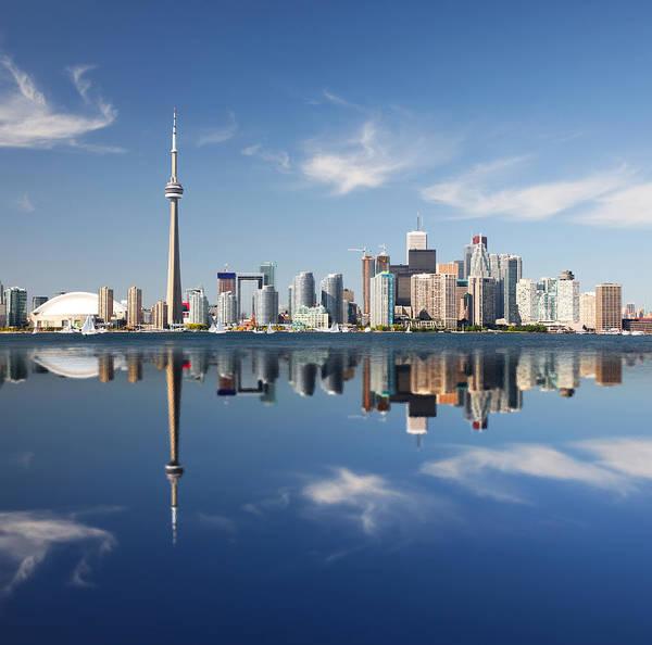 Financial Centre Photograph - Metropolitan Toronto City Reflection by Buzbuzzer