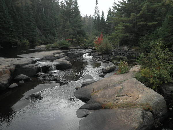 Madawaska Lake Photograph - Mew Lake Falls, Algonquin Provincial Park by Linda Stroud