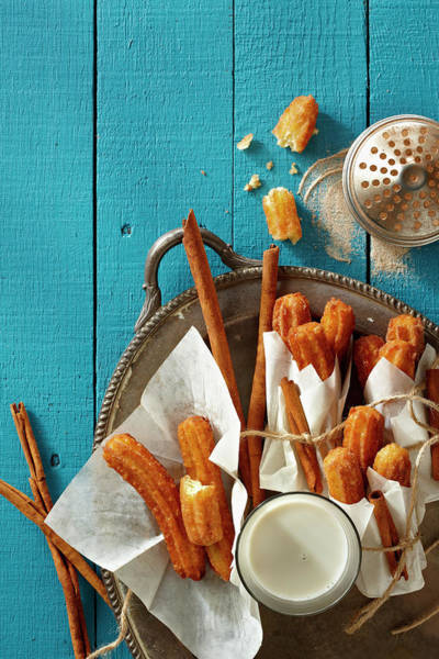 Tray Photograph - Mexican Churros by Lew Robertson