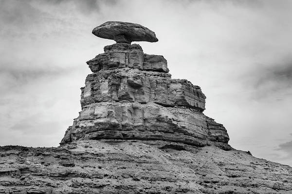 Photograph - Mexican Hat II Bw by David Gordon