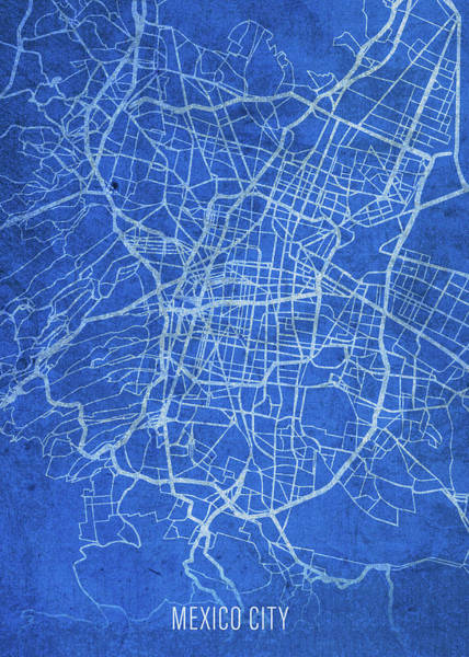 Wall Art - Mixed Media - Mexico City Mexico City Street Map Blueprints by Design Turnpike