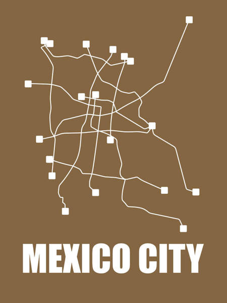 Wall Art - Digital Art - Mexico City Subway Map 2 by Naxart Studio