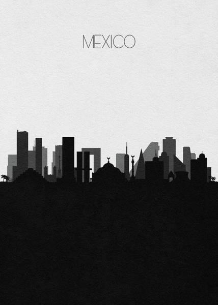 Digital Art - Mexico Cityscape Art by Inspirowl Design
