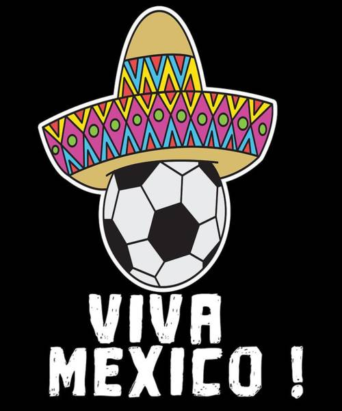 Moscow Mixed Media - Mexico Mexican Football World Cup Soccer Championship World Champion Ball by Roland Andres
