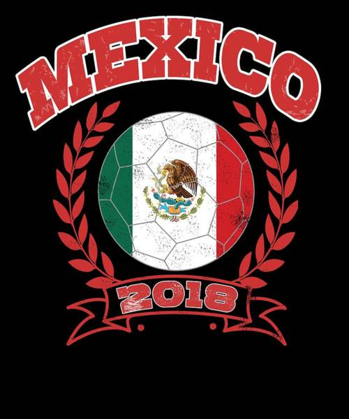 Moscow Mixed Media - Mexico Mexicanfootball World Cup Soccer Championship World Champion Ball by Roland Andres