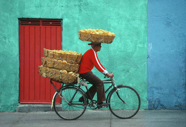 Wall Art - Photograph - Mexico, Mexico City, Man Delivering by Harald Sund