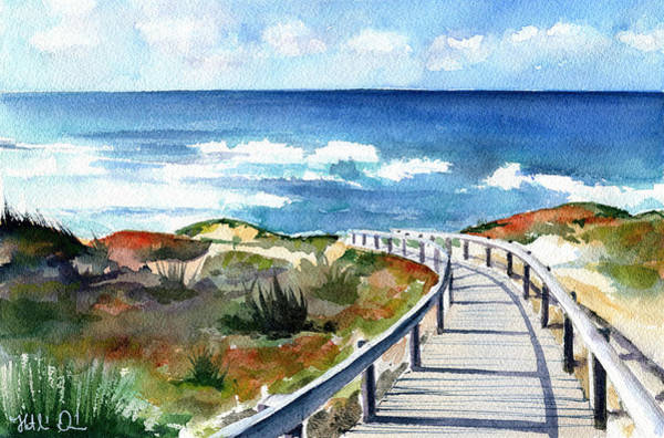 Painting - Mexilhoeira Beach Santa Cruz Portugal by Dora Hathazi Mendes
