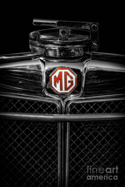 Wall Art - Photograph - Mg Grill Badge by Adrian Evans